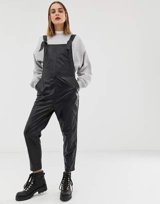2nd Day soft leather dungarees