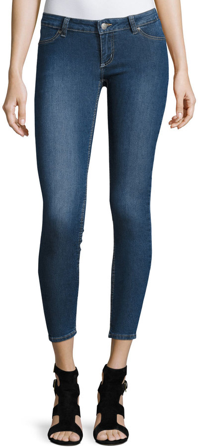 Cheap Monday Cheap Monday Spray-On Low-Rise Skinny Jeans, Mid Blue