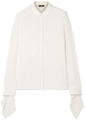 Akris Draped Silk-crepe Shirt - Off-white