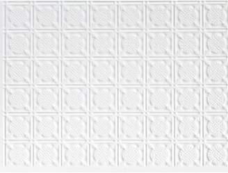 MirroFlex San Diego Backsplash Wall Paneling 18 x 24 Field Tile in Paintable White