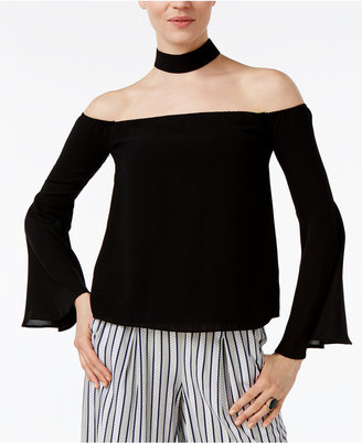 endless rose Off-The-Shoulder Choker-Neck Top $59 thestylecure.com
