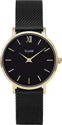 Cluse CL30026 Minuit stainless steel mesh watch