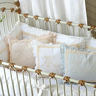Pom Pom at Home Crib Bedding Belle Crib Pillow Sham Blue