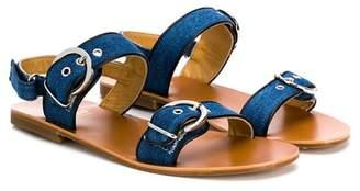 Gallucci Kids TEEN flat buckle sandals