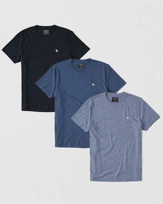 Abercrombie & Fitch 3-Pack Icon Crew Tee