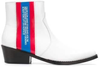 Calvin Klein Jeans Est. 1978 side striped boots