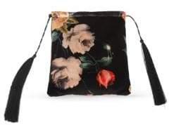 ATTICO Floral-Print Velvet Pouch