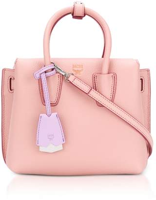 At Italist Mcm Milla Pink Blush Leather Small Tote Bag