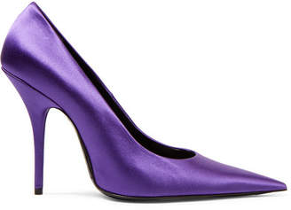 Balenciaga Knife Satin Pumps - Purple