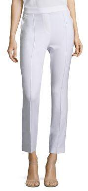 Elie Tahari Arabella Crepe Straight-Leg Pants $268 thestylecure.com
