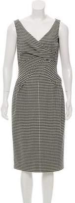 Michael Kors Sleeveless Gingham Midi Dress