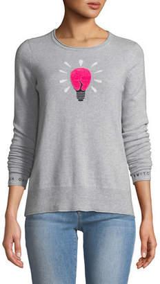 Lisa Todd Lighten Up Lightbulb Cashmere Pullover Sweater, Plus Size