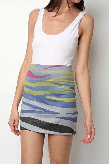 Silence & Noise Sublimated Zebra Skirt