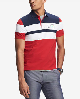 Tommy Hilfiger Men's Manuel Custom-Fit Colorblocked Logo-Print Polo