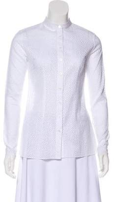 Sophie Theallet Open Knit Button-Up Top