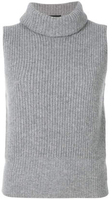 Theory cashmere ribbed shell top