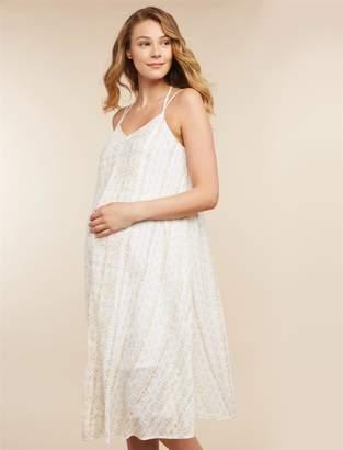 Jessica Simpson Motherhood Maternity Lurex Stitching Maternity Dress