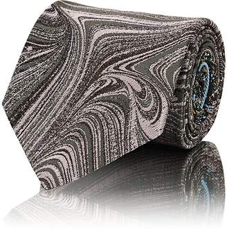 Dries Van Noten Men's Swirl-&-Splatter-Pattern Silk Jacquard Necktie