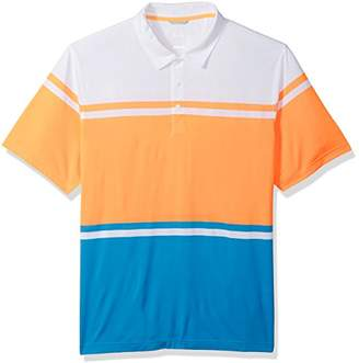 Cutter & Buck Men's Moisture Wicking Wide Stripe Union Short Sleeve Polo Shirt