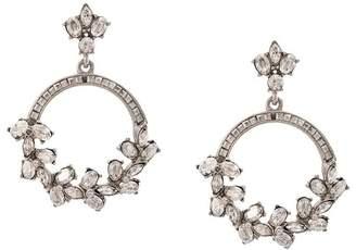 Oscar de la Renta crystal hoop earrings