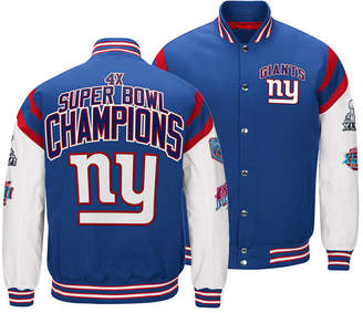 Authentic Nfl Apparel Men's New York Giants Home Team Varsity Jacket