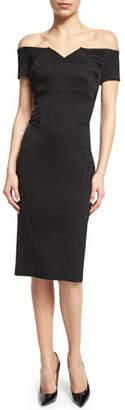 Zac Posen Off-The-Shoulder Cocktail Dress, Black $1,890 thestylecure.com