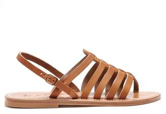 K. Jacques Homere Leather Sandals - Womens - Tan
