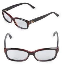 Gucci 52MM Rectangular Optical Glasses
