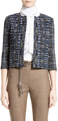 Women's St. John Collection Kian Tapestry Knit Jacket $1,295 thestylecure.com