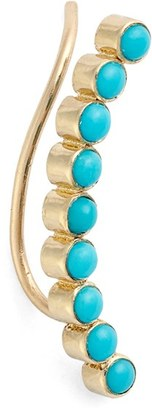 Women's Zoe Chicco Turquoise Ear Crawler $460 thestylecure.com