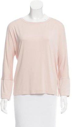 Pink Tartan Grosgrain-Accented Long Sleeve Top $65 thestylecure.com