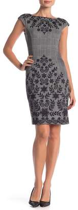 London Times Ponte Vine Floral Sheath Dress