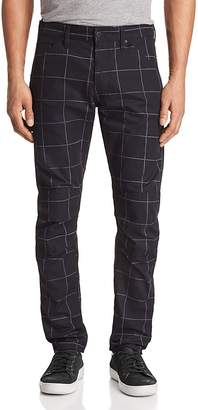 G Star Elwood 5622 3D Slim Fit Jeans in Window Check Anthracite