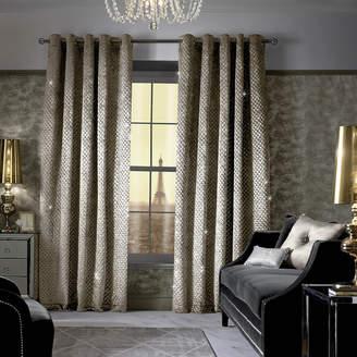 Kylie Minogue At Home at Home - Grazia Lined Eyelet Curtains - Praline - 168x183cm