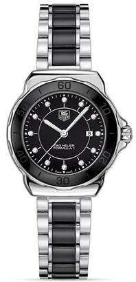 Tag Heuer Formula 1 Stainless Steel and Black Ceramic Watch With Diamonds, 32mm
