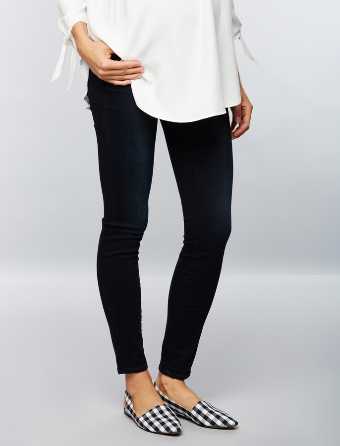 A Pea In The PodFrame Secret Fit Belly Rinse Wash Skinny Maternity Jeans