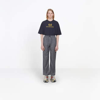 Balenciaga Checked soft cotton pants