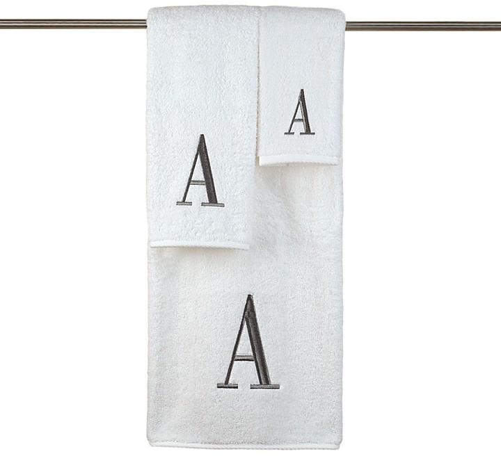 """Avanti Monogram Letter"""" Fingertip Towel"""