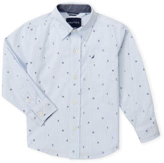 Nautica Boys 4-7) Light Blue Stripe Shirt