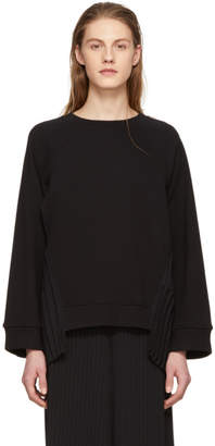 Maison Margiela Black Pleated Panel Sweatshirt