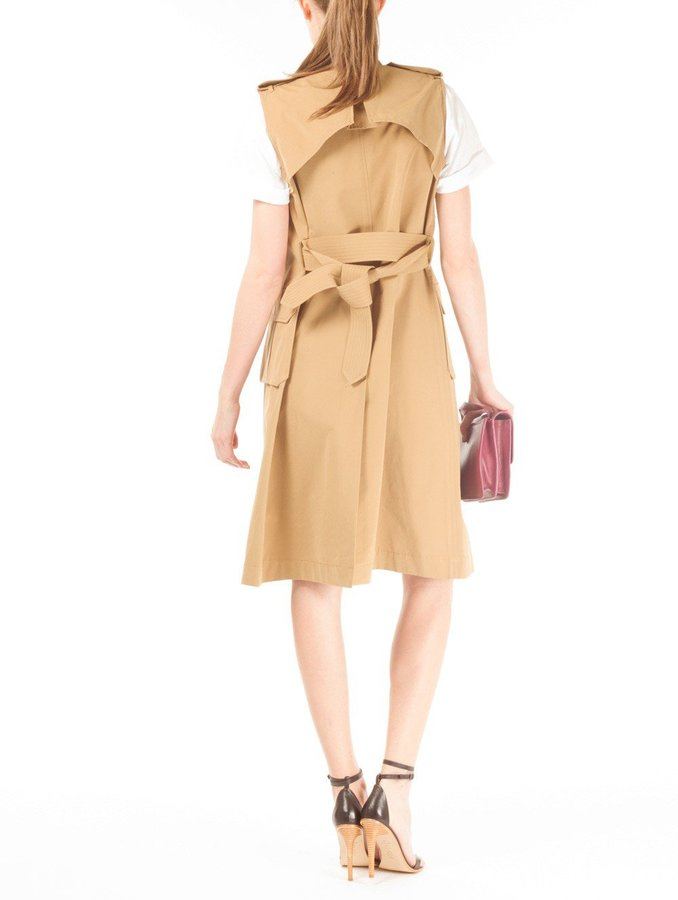 Band Of Outsiders Coated Sleeveless Trench