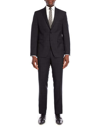 Calvin Klein Two-Piece Black Quad Windowpane Suit