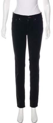 Ralph Lauren Velour Mid-Rise Skinny Pants w/ Tags