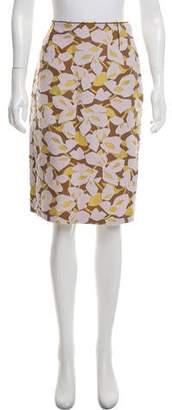 Prada Embroidered Knee-Length Skirt