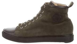 Hermes Suede High-Top Sneakers