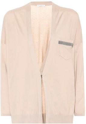 Brunello Cucinelli Embellished cotton cardigan