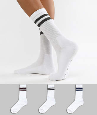 French Connection stripe multipack socks