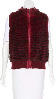 Christian Cota Mink Fur Zip-Up Vest