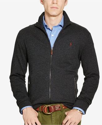 Polo Ralph Lauren Men's Jacquard Fleece Shawl Cardigan $145 thestylecure.com