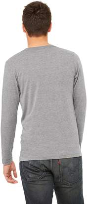 B.ella + Canvas Unisex Jersey Long-Sleeve V-Neck T-Shirt, XS, GREY TRIBLEND